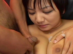 Sweet Japanese babe Meguru Kosaka is getting banged by dildos