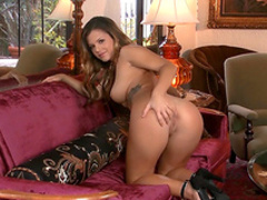 Big-tit pornstar Keisha Grey is sucking her nipples