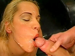 Hardcore blonde is getting fucked with force