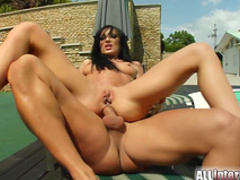 Spectacular anal sex with slender brunette