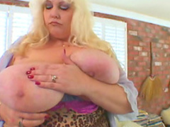 Big titty babe Rock Rose shows off her ass