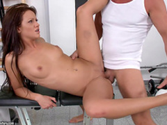 Nia Black sucks thick cock and jumps on it