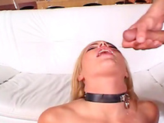Hardcore busty blonde is getting two big dicks