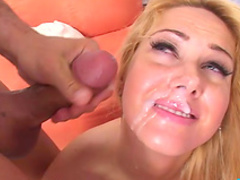 Blonde being screwed in her tight asshole