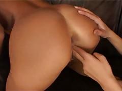 Angelina Crow and Jordan Green play with huge dildo