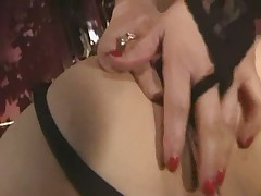 Threesome fucking and get lot of cumshot