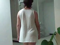 Rosa doing exhibitionism