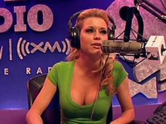 Blonde pornstars have party in radio station