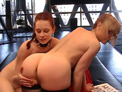 Redhead babe was fucked by spicy mature Nina