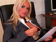 Blonde Ines Cudna shows off her naked body