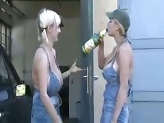 Katarine and Westy lesbians with huge tits