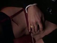 Girl blowjob and handjob guy in the cinema