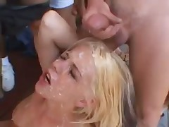 She needs a lot of more cum in here face
