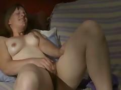 A woman masturbating