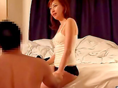 Redhead Asian fuck in her accurate hairy pussy