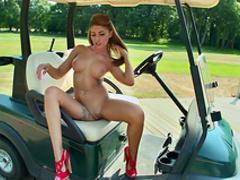 Brunette Jenny Laird shows her slender body