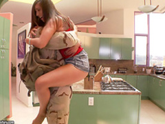 Housewife gets banged by guy wearing military uniform