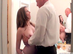 Spicy beauty is sucking a hard dick of her boss