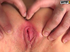 Amateur Russian beauty is having sex with a mature dick