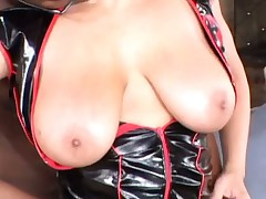 British busty Alexis Silver gets fucked in boots