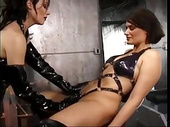 Stacked Brunette Has Her Boobs Tortured