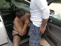 Hungarian Timi fuck in the parking place