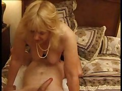 French MILF 4some at home