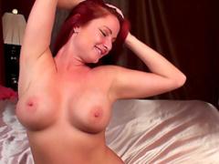 Redhead milf masturbates her lovely puss
