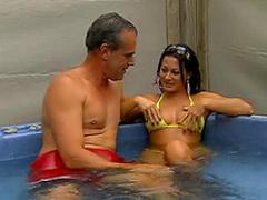 Hot tub and fuck fun