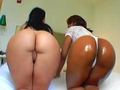 Interracial big butt show