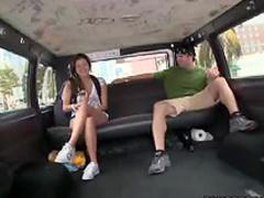 Relaxed girl sex in van