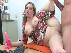 Milf loosens up and fucks