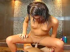 Sucking cock in shower
