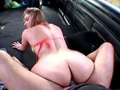 Bikini girl sex in van