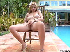 Big tits blowjob outdoors