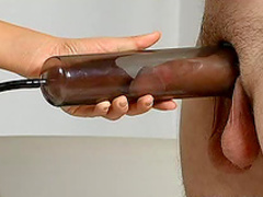 Long cock handjob and fuck