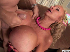 Mature blonde with big boobies Echo Valley and dick in her mouth