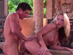 Hot nasty milf Kiara Diane is sucking a dick