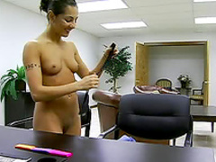 Sucking cock in office