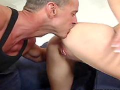 He fucks her shaved hole
