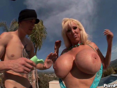 Big titted babe Tia Gunn being fucked hard