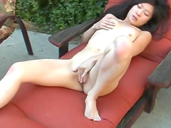 Sweet Asian beauty is playing with her pussy