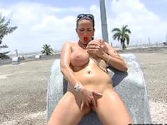 Carmella Bing fucked on roof