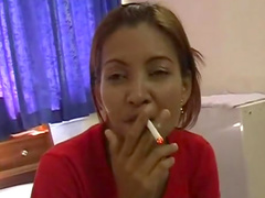 Sensual beauty is sucking a dick and smoking a cigarette