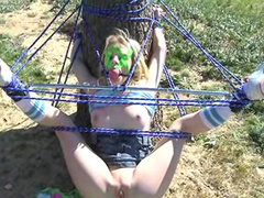 Babe Ally Ann being impaled and roped