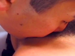Cutie Yuu Aoki being banged in her hairy pussy