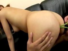 Asian chick from Japan is getting cum in her mouth