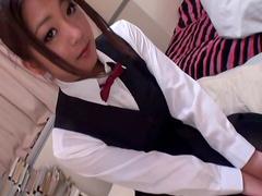 Stunning brunette Satomi Suzuki is getting dick in her mouth