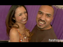 Sweet Latina Nataly Rosa is tasting extremely big dick!
