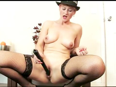 Dance from fishnets milf